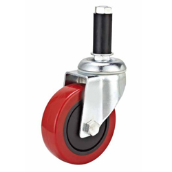 Medium Duty Red PU Caster Brake Adapter Stem